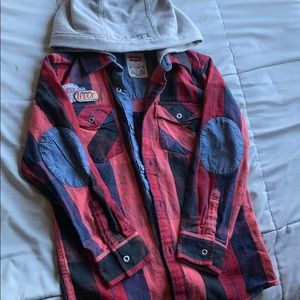 Hooded Levi's button up